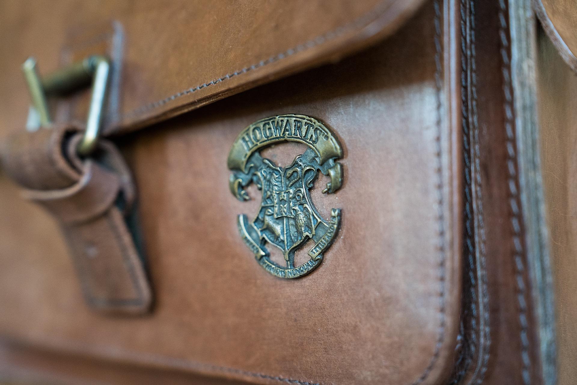 Embleme Harry Potter sur cartable Ruitertassen.